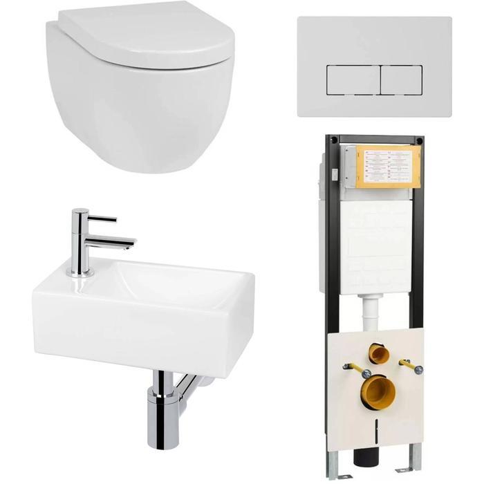 Combideal Toiletruimte Saqu Home/Combi-Pack S Rimless Bardolino Eiken Links