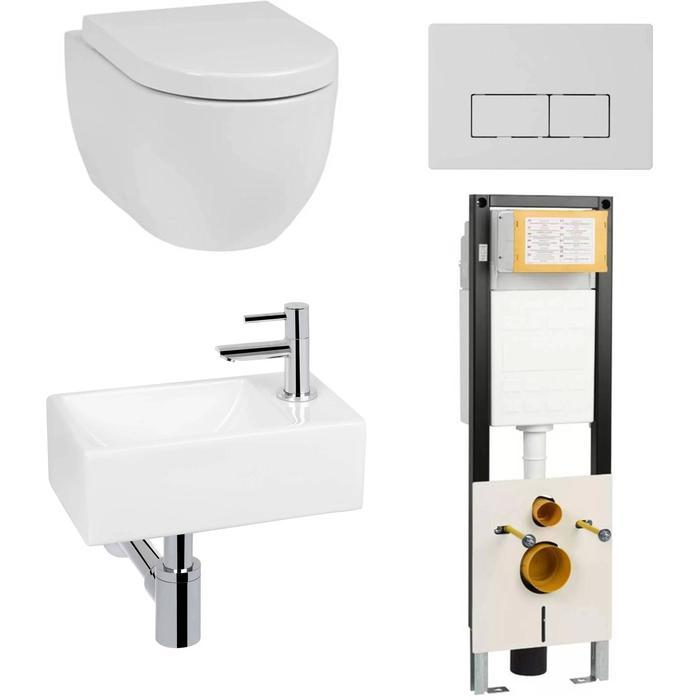 Combideal Toiletruimte Saqu Home/Combi-Pack S Rimless Bardolino Eiken Rechts