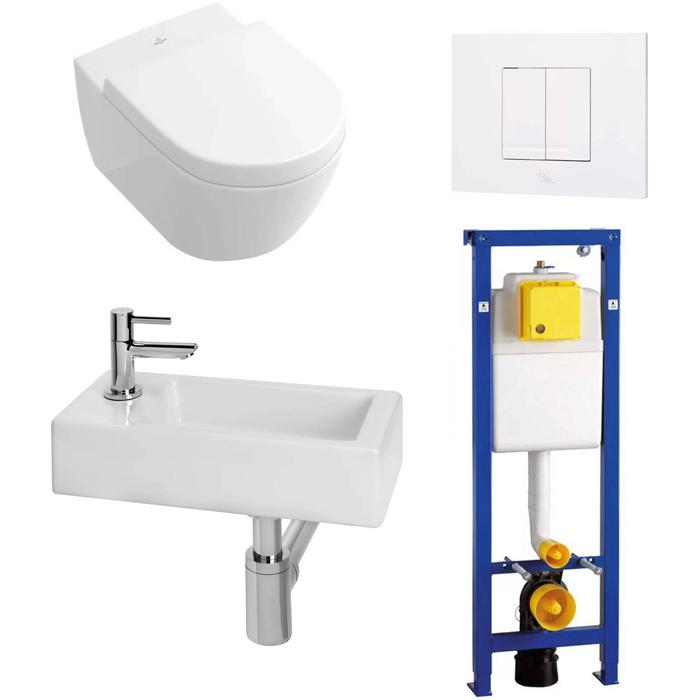 Combideal Toiletruimte Villeroy & Boch Subway 2.0/Combi-Pack M Links