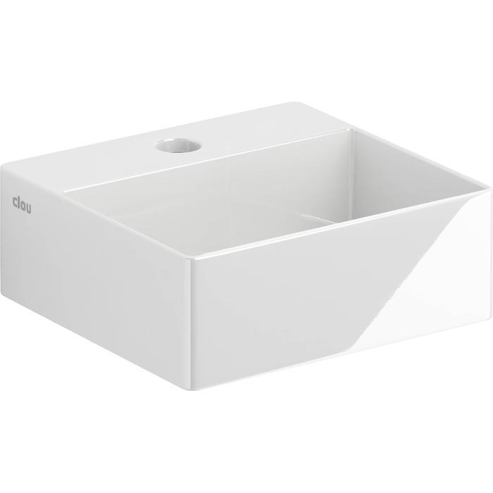 Clou New Flush Fontein Kraangat Midden 28x27x10 cm  Wit