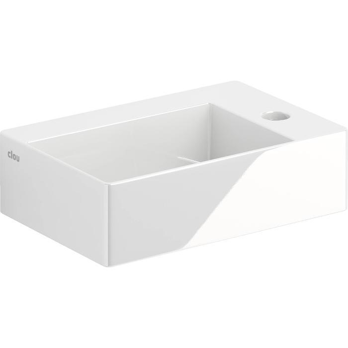 Clou New Flush Fontein Kraangat Rechts 35,5x24,5x10 cm  Wit