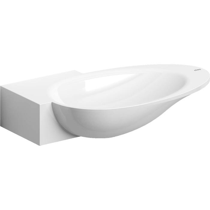 Clou First Fontein voorbewerkt kraangat links 38,8x24,6x8 cm Wit