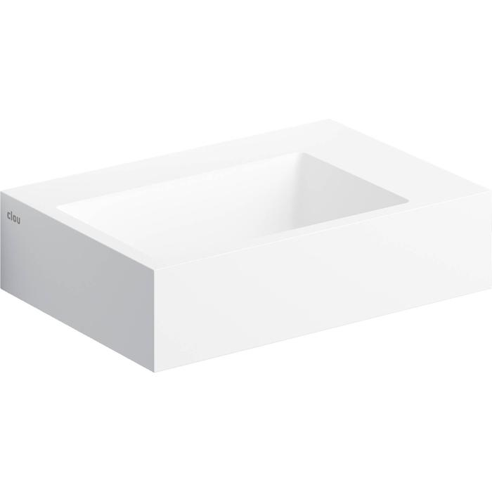 Clou Flush Fontein voorbewerkt kraangat  42,5x29x10,5 cm  Wit