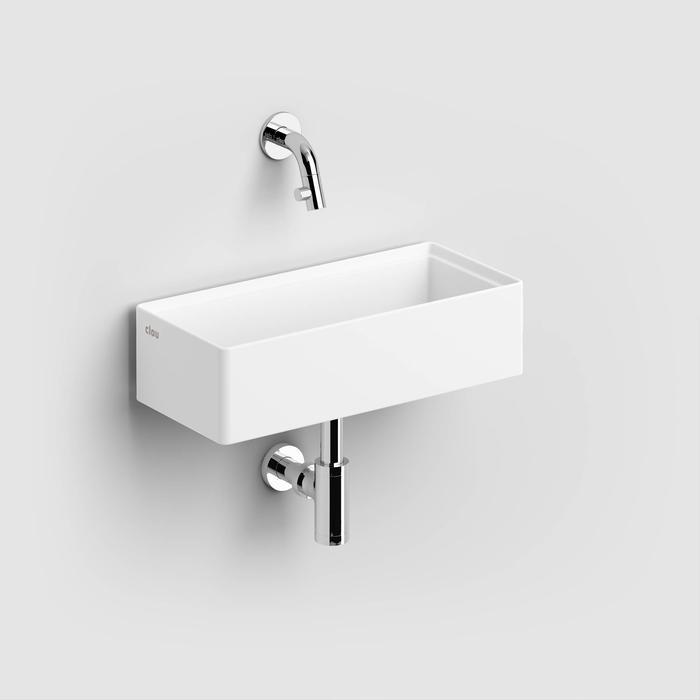 Clou New Flush Fontein Zonder Kraangat 38x18x10 cm  Wit