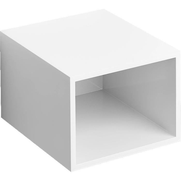 Clou Hammock Badmeubelkast Laag 40x50,3x30 cm Hoogglans Wit gelakt