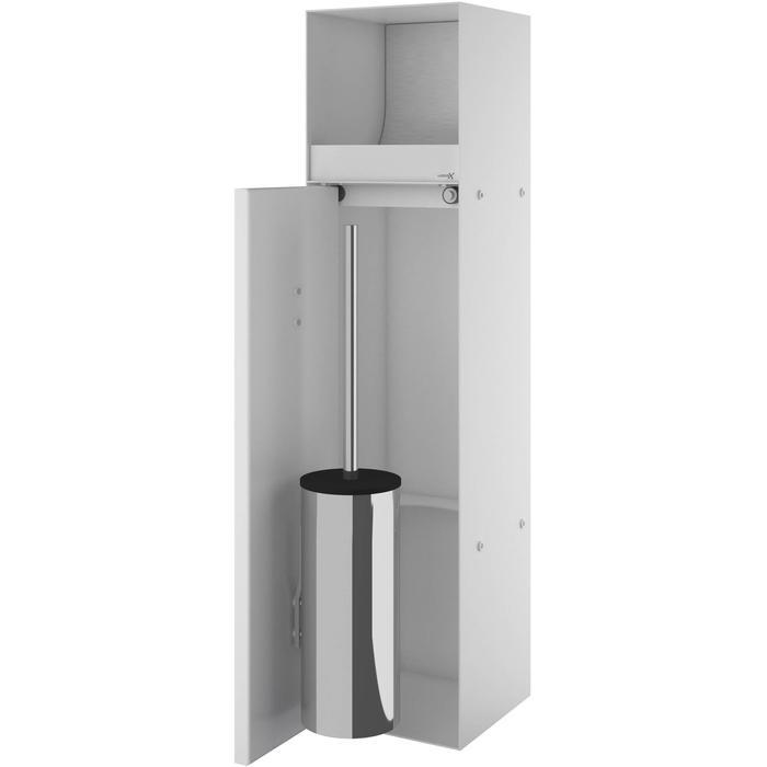 Looox CL9 inbouw Closetborstelhouder met rolhouder betegelbaar 24x14x69 cm Wit