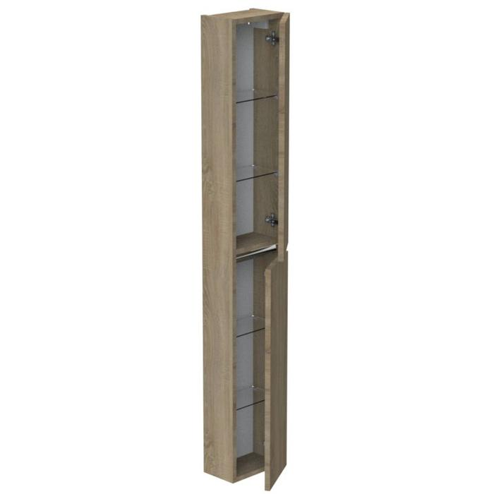 Thebalux Ceramic Line Hoge Kast 25x17x165 cm Cape Elm