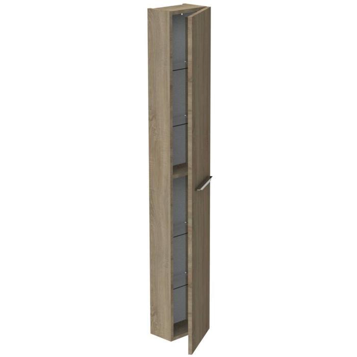 Thebalux Ceramic Line Hoge Kast 25x17x165 cm Authentic Oak