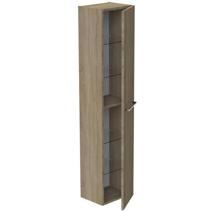 Thebalux Ceramic Line Hoge Kast 35x29x165 cm Natural Oak