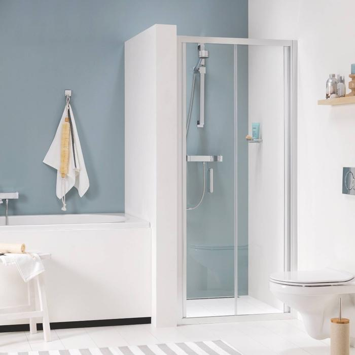 Get Wet by Sealskin Compact Vouwdeur voor nis 90x195cm Chroom-zilver hoogglans/Helder glas