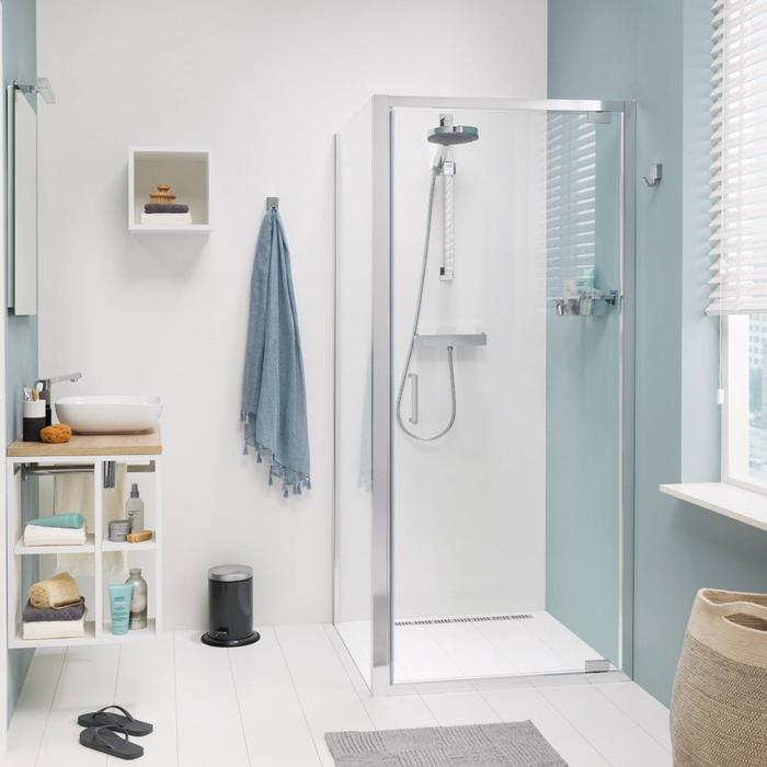 Get Wet by Sealskin Compact Douchecabine met draaideur 80x195cm Chroom-zilver hoogglans/Helder glas