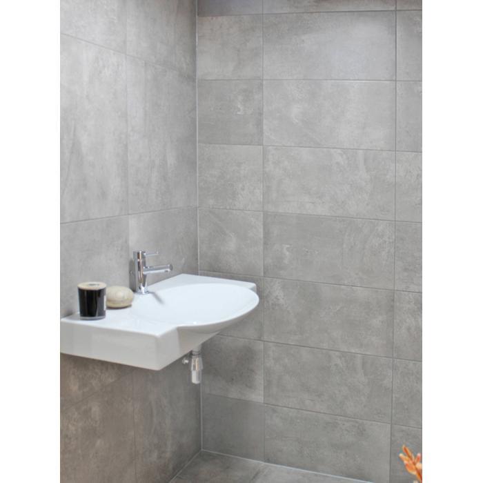 Wandtegel Myr Concret 25x75x- cm Grijs 1,13M2