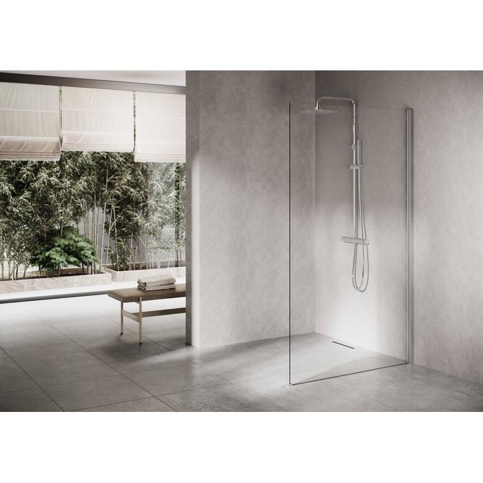 Ben Delphi Inloopdouche met Helder Glas 110x200 cm Mat Chroom