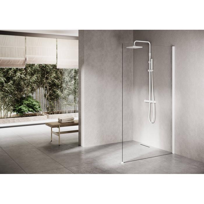 Ben Delphi Inloopdouche met Helder Glas 110x200 cm Mat Wit
