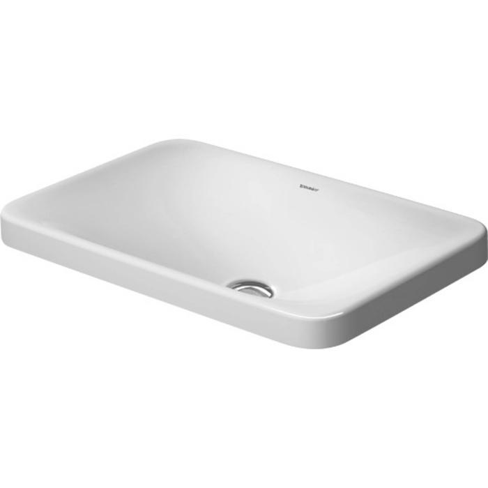 Duravit P3 Comforts Inbouwwastafel 55cm WonderGliss wit