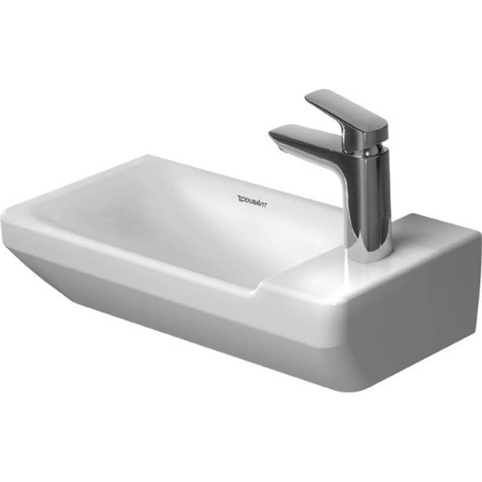 Duravit P3 Comforts Fontein 50cm zonder kraangat WonderGliss Wit