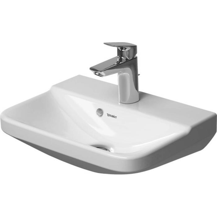 Duravit P3 Comforts Fontein 45cm zonder kraangat WonderGliss Wit