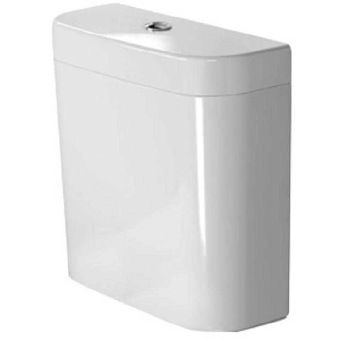 Duravit Happy D.2 Duobloc Reservoir onderaansluiting 6/3L WonderGliss Wit