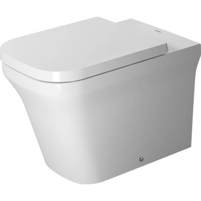Duravit P3 Comforts Staande Pot Rimless Back-to-wall WonderGliss Wit