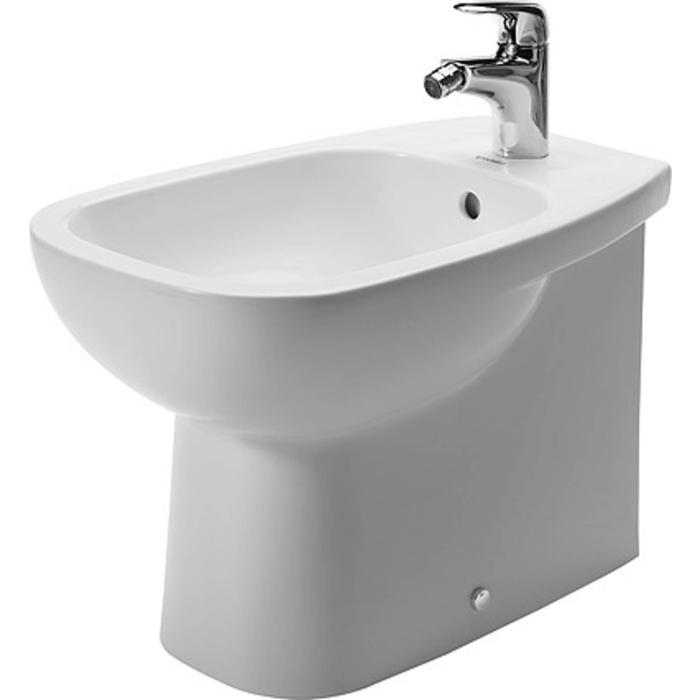 Duravit D-Code Staand bidet 56cm Back-to-Wall Wit