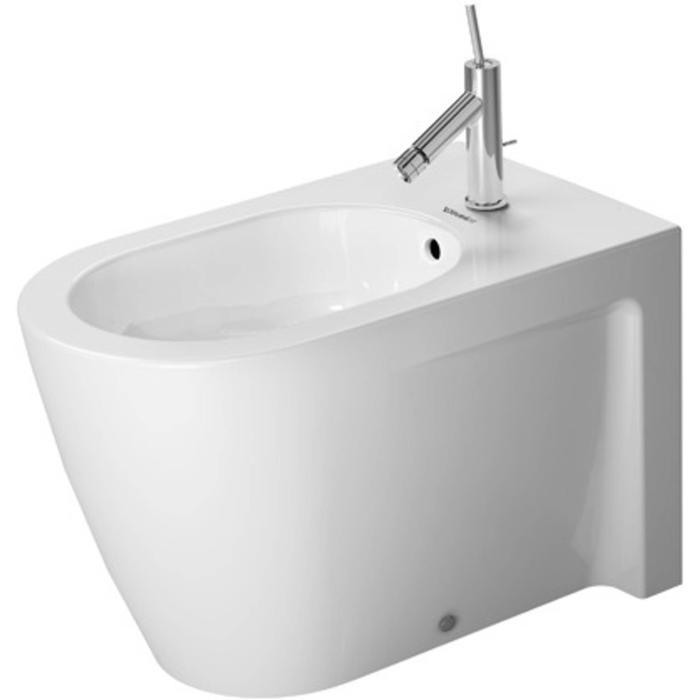 Duravit Starck 2 staand bidet 37x63cm WonderGliss wit