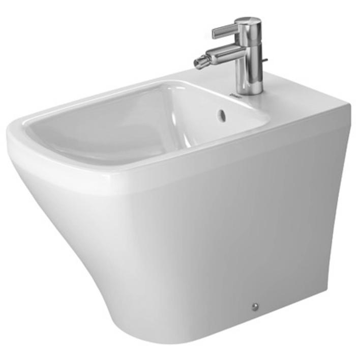Duravit DuraStyle Compact Staand bidet Back-to-Wall WonderGliss Wit