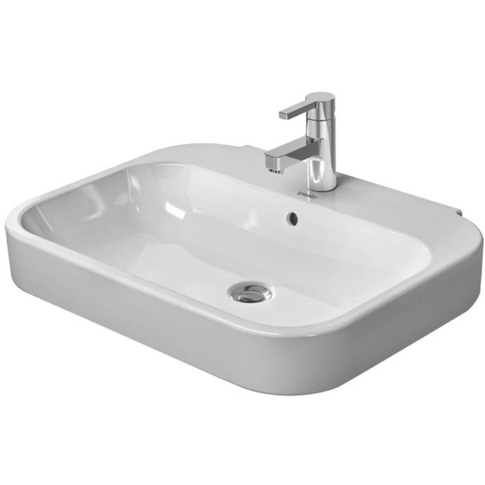 Duravit Happy D.2 wastafel 65cm WonderGliss wit