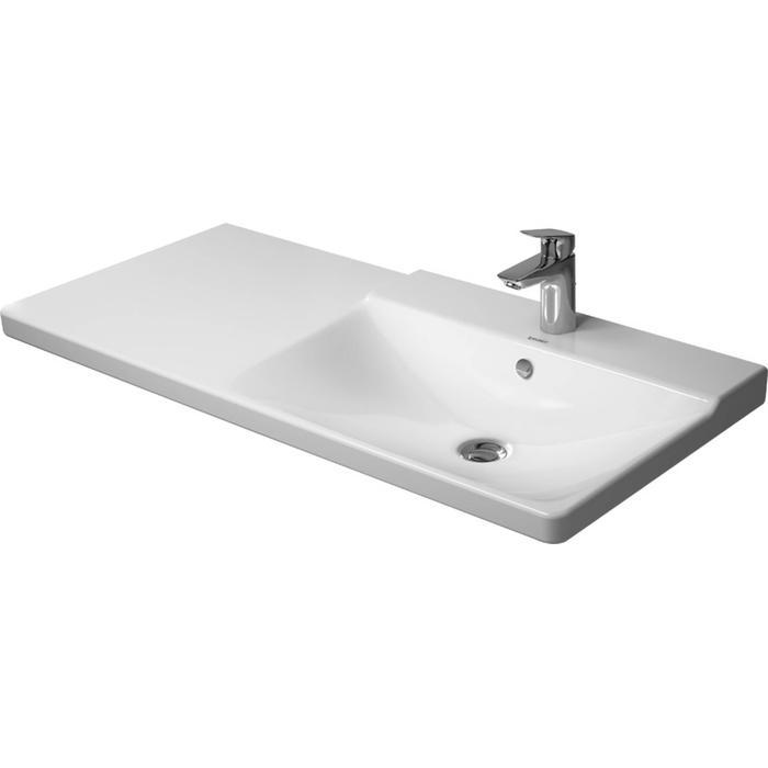 Duravit P3 Comforts Meubelwastafel 105cm bak rechts wit