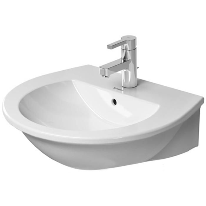 Duravit Darling New wastafel 55x48cm 3 kraangaten WonderGliss wit