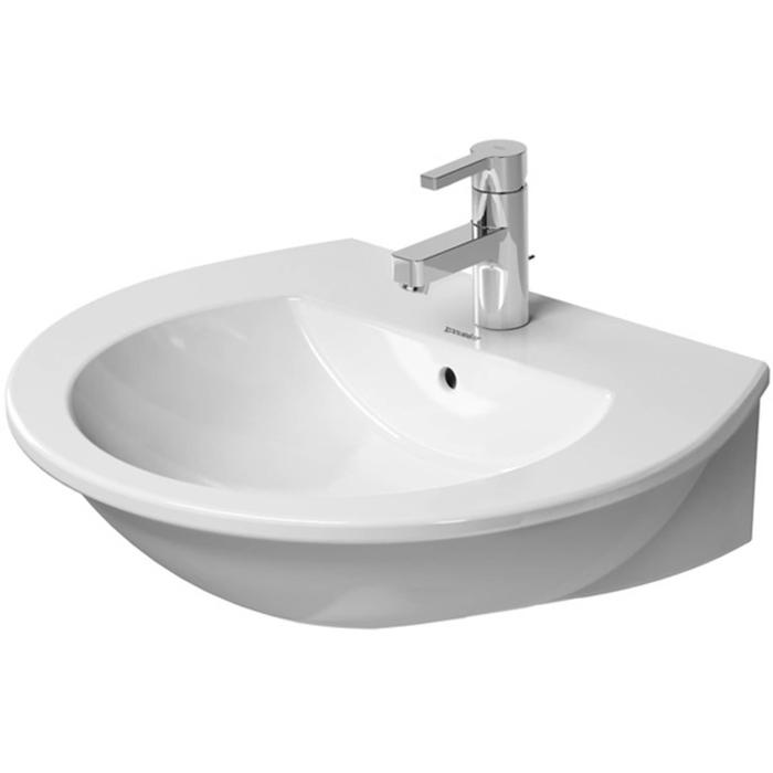 Duravit Darling New wastafel 60x52cm 3 kraangaten WonderGliss wit