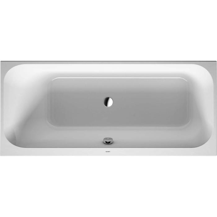 Duravit Happy D.2 Bad 170x70cm rugsteun links Wit