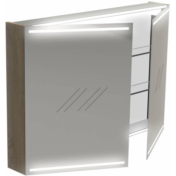 Thebalux Deluxe Spiegelkast 70x100x13,5 cm Wit Hoogglans