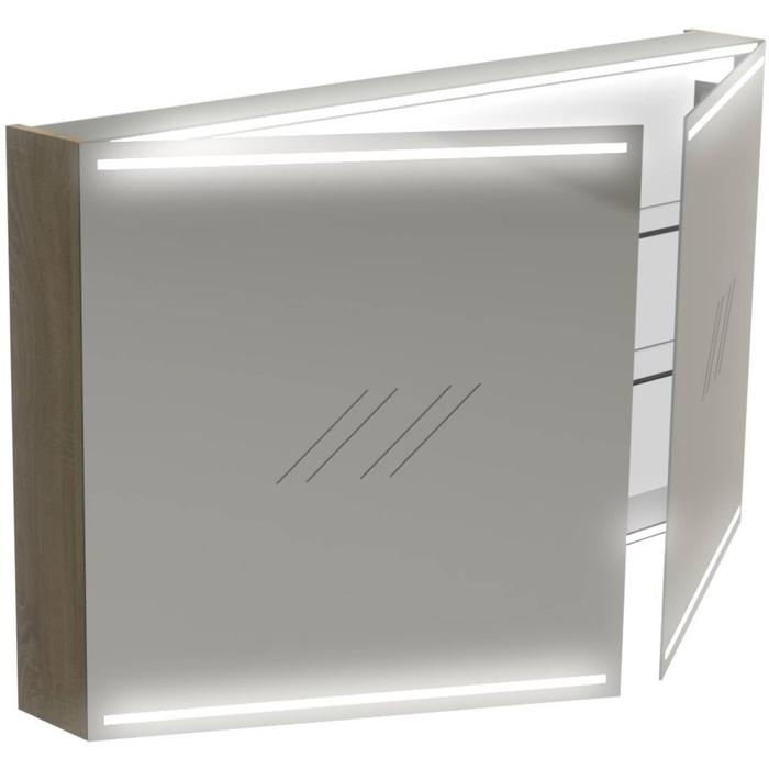 Thebalux Deluxe Spiegelkast 70x120x13,5 cm Bardolino Eiken