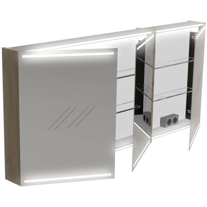 Thebalux Deluxe Spiegelkast 70x150x13,5 cm Essen Grijs