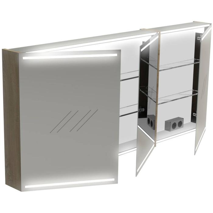 Thebalux Deluxe Spiegelkast 70x150x13,5 cm Nebraska Eiken