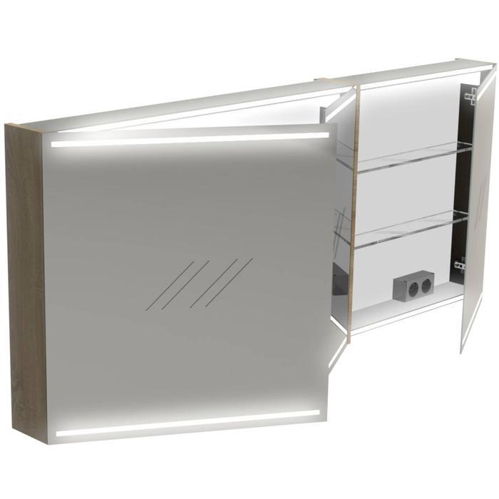 Thebalux Deluxe Spiegelkast 70x160x13,5 cm Wit Hoogglans