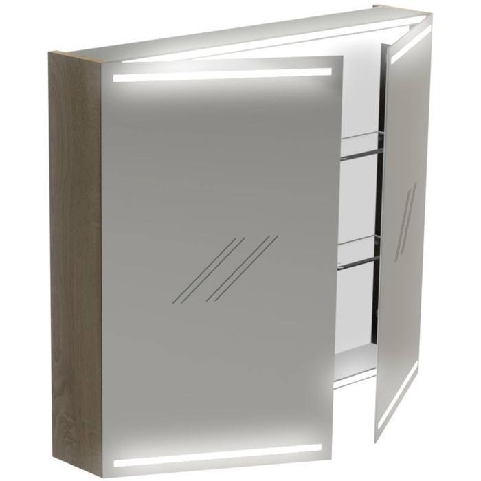Thebalux Deluxe Spiegelkast 70x80x13,5 cm Antraciet Mat Lak