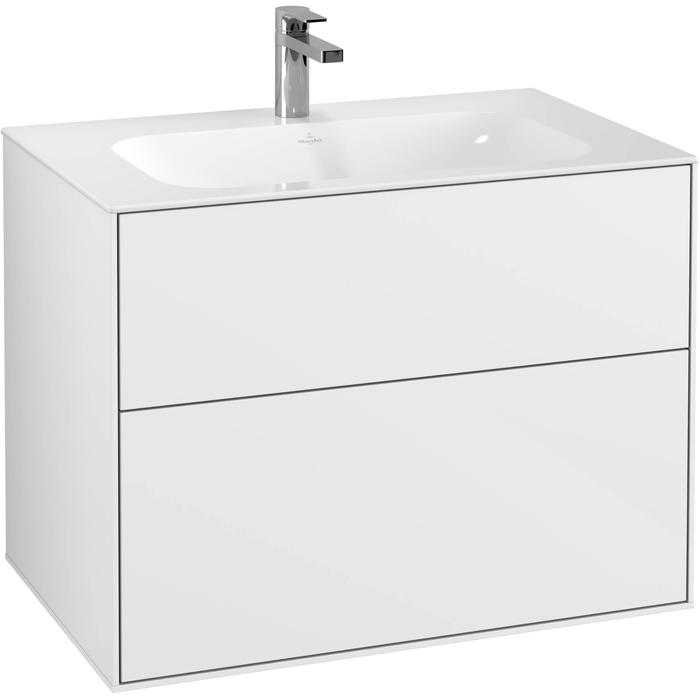 Villeroy & Boch Finion Wastafelonderkast 79,6x49,8x59,1 cm Glossy White Lacquer