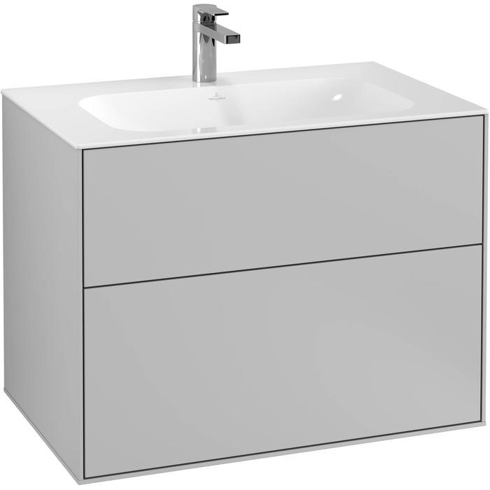 Villeroy & Boch Finion Wastafelonderkast 79,6x49,8x59,1 cm Light Grey Matt