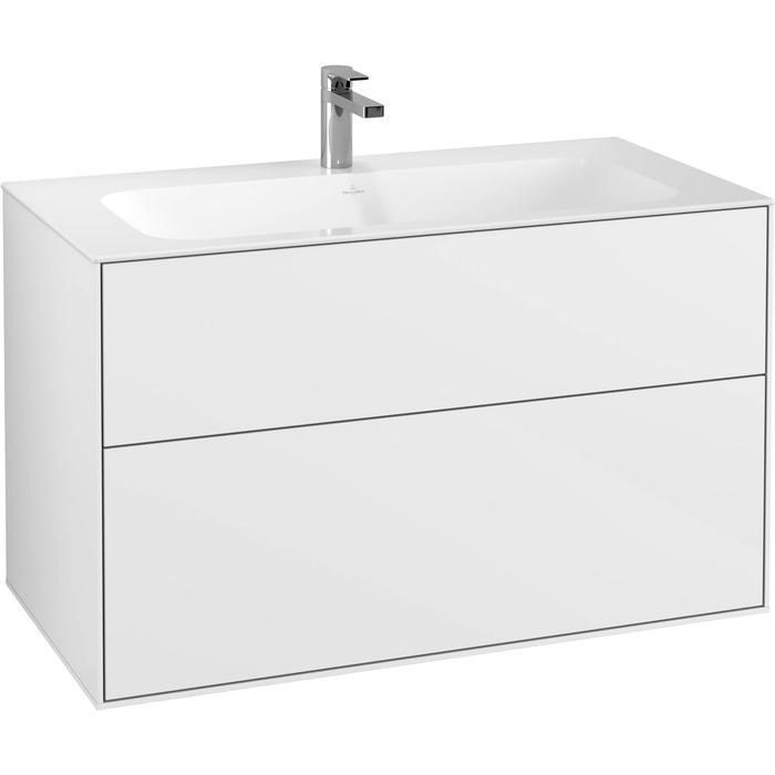 Villeroy & Boch Finion Wastafelonderkast 99,6x49,8x59,1 cm Glossy White Lacquer