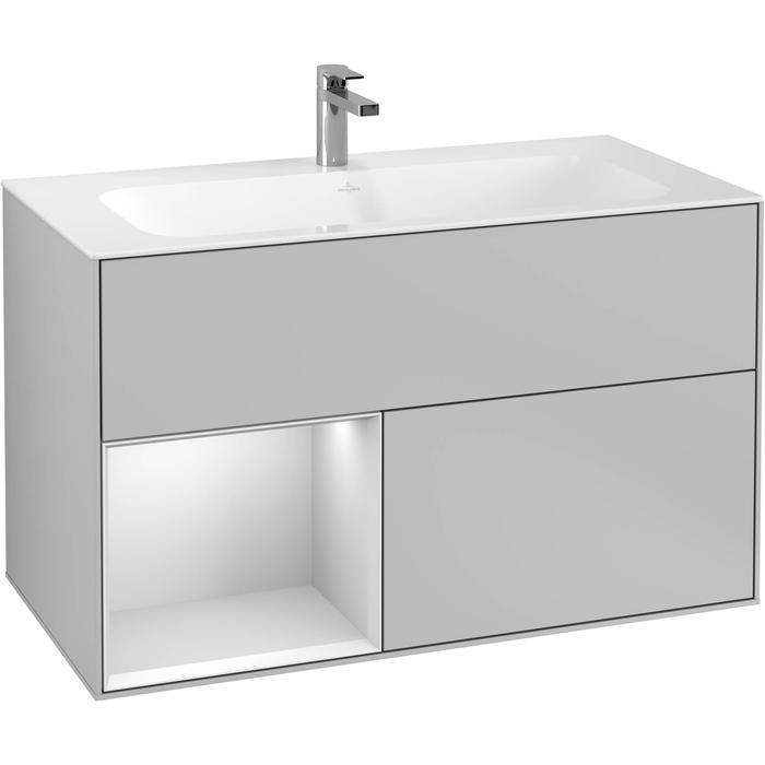 Villeroy & Boch Finion Wastafelonderkast 99,6x49,8x59,1 cm Light Grey Matt