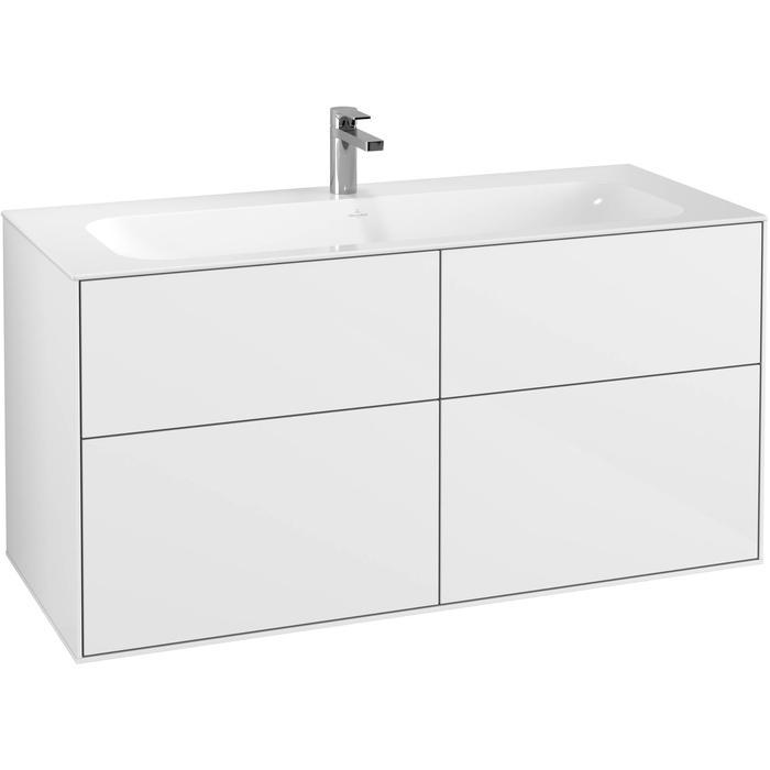 Villeroy & Boch Finion Wastafelonderkast 119,6x49,8x59,1 cm Glossy White Lacquer