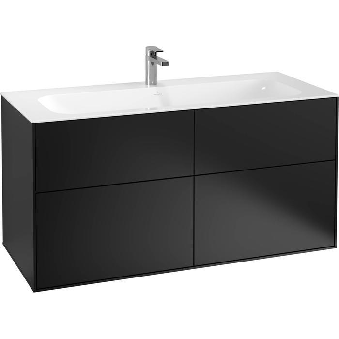 Villeroy & Boch Finion Wastafelonderkast 119,6x49,8x59,1 cm Black Matt Lacquer