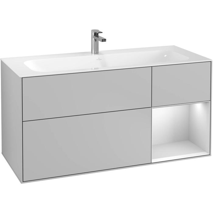Villeroy & Boch Finion Wastafelonderkast 119,6x49,8x59,1 cm Light Grey Matt