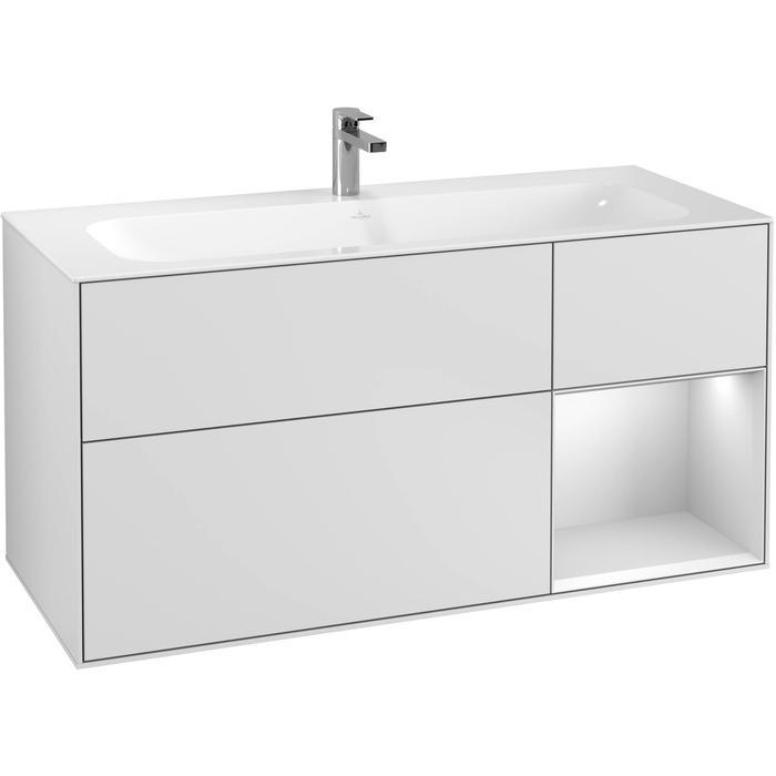 Villeroy & Boch Finion Wastafelonderkast 119,6x49,8x59,1 cm White Matt Lacquer