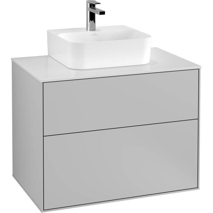 Villeroy & Boch Finion Wastafelonderkast 80x50,1x60,3 cm Light Grey Matt