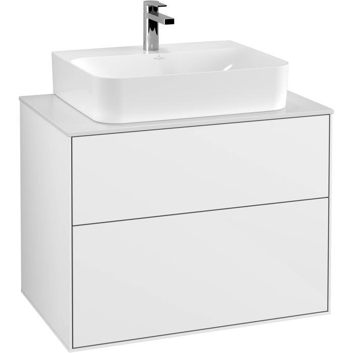 Villeroy & Boch Finion Wastafelonderkast 80x50,1x60,3 cm Glossy White Lacquer