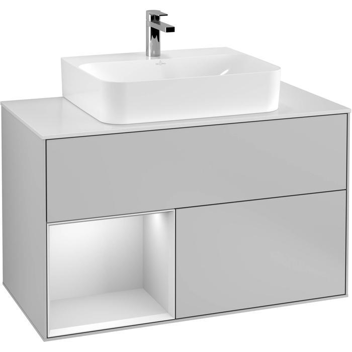 Villeroy & Boch Finion Wastafelonderkast 100x50,1x60,3 cm Light Grey Matt