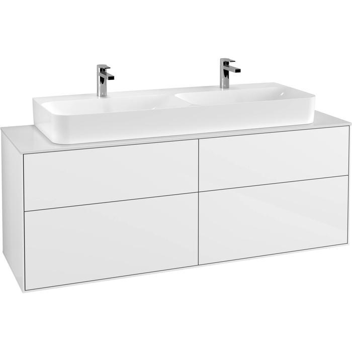 Villeroy & Boch Finion Wastafelonderkast 160x50,1x60,3 cm Glossy White Lacquer