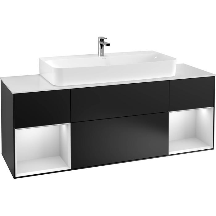 Villeroy & Boch Finion Wastafelonderkast 160x50,1x60,3 cm Black Matt Lacquer